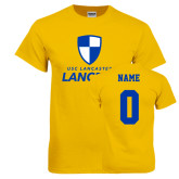 Gold T Shirt-Primary Logo, Custom Tee w/ Name and #