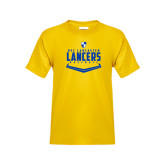 Youth Gold T Shirt-Lancers Baseball Plate