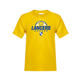 Youth Gold T Shirt-Lancers Soccer Half Ball