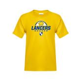 Youth Gold T Shirt-Lancers Soccer Half Ball
