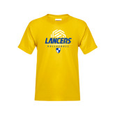 Youth Gold T Shirt-Lancers Volleyball Half Ball
