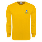 Gold Long Sleeve T Shirt-Primary Logo