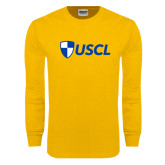 Gold Long Sleeve T Shirt-Shield USCL
