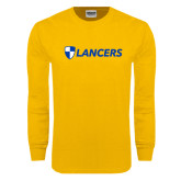 Gold Long Sleeve T Shirt-Shield Lancers