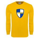 Gold Long Sleeve T Shirt-Shield