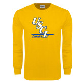 Gold Long Sleeve T Shirt-USCL Lancers