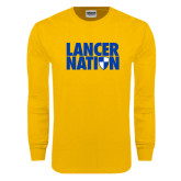 Gold Long Sleeve T Shirt-Lancer Nation