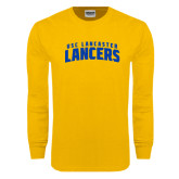 Gold Long Sleeve T Shirt-Arched USC Lancaster Lancers
