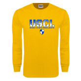 Gold Long Sleeve T Shirt-USCL Stencil Texture
