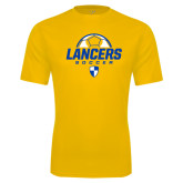 Performance Gold Tee-Lancers Soccer Half Ball