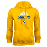 Gold Fleece Hoodie-Lancers Volleyball Half Ball