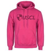 Fuchsia Fleece Hoodie-Shield USCL Hot Pink Glitter