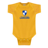 Gold Infant Onesie-Primary Logo