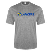 Performance Grey Heather Contender Tee-Shield Lancers