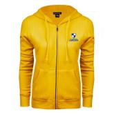 ENZA Ladies Gold Fleece Full Zip Hoodie-Primary Logo
