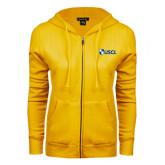 ENZA Ladies Gold Fleece Full Zip Hoodie-Shield USCL