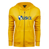 ENZA Ladies Gold Fleece Full Zip Hoodie-Shield USCL