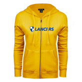 ENZA Ladies Gold Fleece Full Zip Hoodie-Shield Lancers