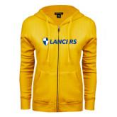 ENZA Ladies Gold Fleece Full Zip Hoodie-Shield Lancers
