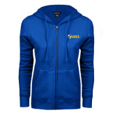 ENZA Ladies Royal Fleece Full Zip Hoodie-Shield USCL