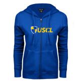 ENZA Ladies Royal Fleece Full Zip Hoodie-Shield USCL