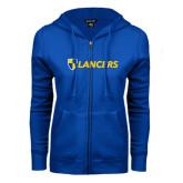 ENZA Ladies Royal Fleece Full Zip Hoodie-Shield Lancers