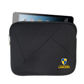 Neoprene Black Zippered Tablet Sleeve-Primary Logo