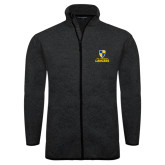 Black Heather Fleece Jacket-Primary Logo