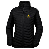 Columbia Mighty LITE Ladies Black Jacket-Primary Logo