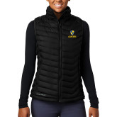 Columbia Mighty LITE Ladies Black Vest-Primary Logo