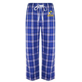 Royal/White Flannel Pajama Pant-Primary Logo