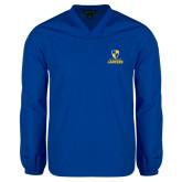 V Neck Royal Raglan Windshirt-Primary Logo