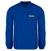 V Neck Royal Raglan Windshirt-Shield USCL