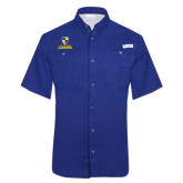 Columbia Tamiami Performance Royal Short Sleeve Shirt-Primary Logo