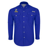 Columbia Bahama II Royal Long Sleeve Shirt-Primary Logo