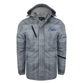 Grey Brushstroke Print Insulated Jacket-Shield USCL