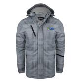 Grey Brushstroke Print Insulated Jacket-Shield USCL