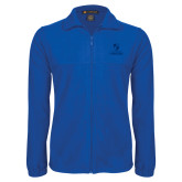 Fleece Full Zip Royal Jacket-Primary Logo