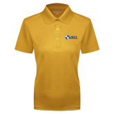 Ladies Gold Dry Mesh Polo-Shield USCL
