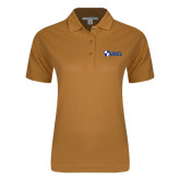 Ladies Easycare Gold Pique Polo-Shield USCL