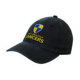 Black OttoFlex Unstructured Low Profile Hat-Primary Logo