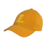 Gold Twill Unstructured Low Profile Hat-L