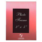 Pink Brushed Aluminum 3 x 5 Photo Frame-Primary Logo Engraved