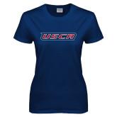 Ladies Navy T Shirt-USCA