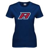 Ladies Navy T Shirt-A