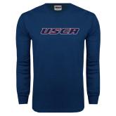 Navy Long Sleeve T Shirt-USCA