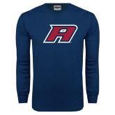Navy Long Sleeve T Shirt-A