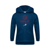 Youth Navy Fleece Hoodie-Golf
