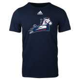 Adidas Navy Logo T Shirt-Secondary Mark