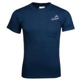 Navy T Shirt w/Pocket-Primary Mark